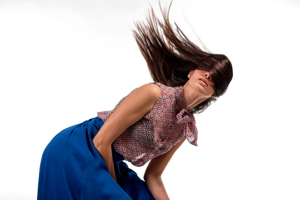 fotografia di moda e fashion, capelli al vento