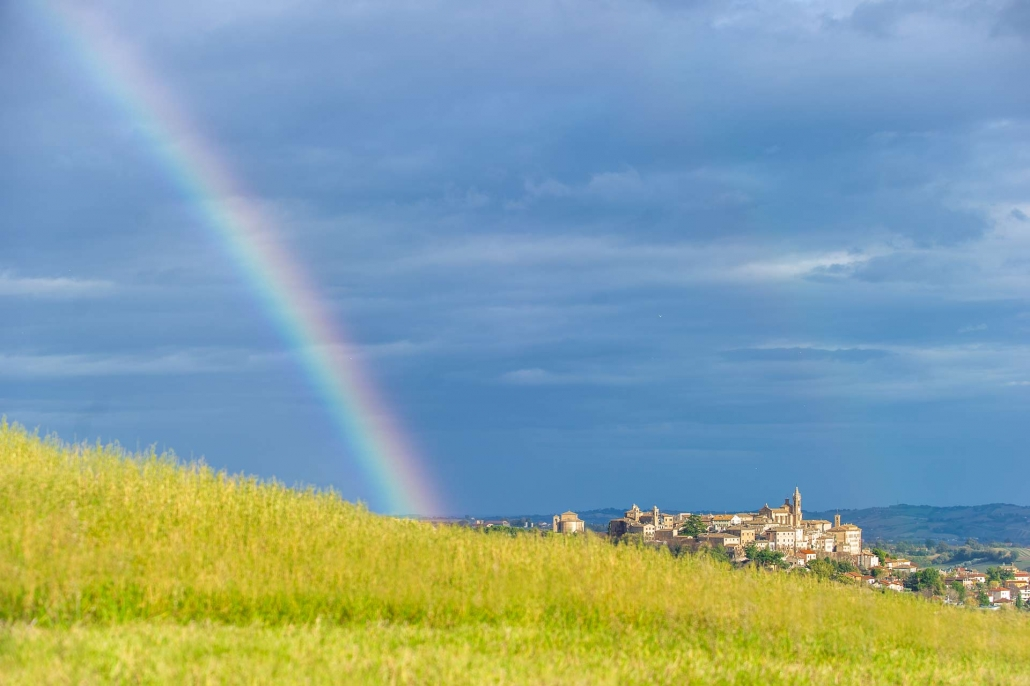 fotografia e paesaggi, arcobaleno corinaldo