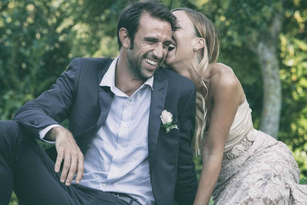 fotografo matrimonio italia, sposi che ridono