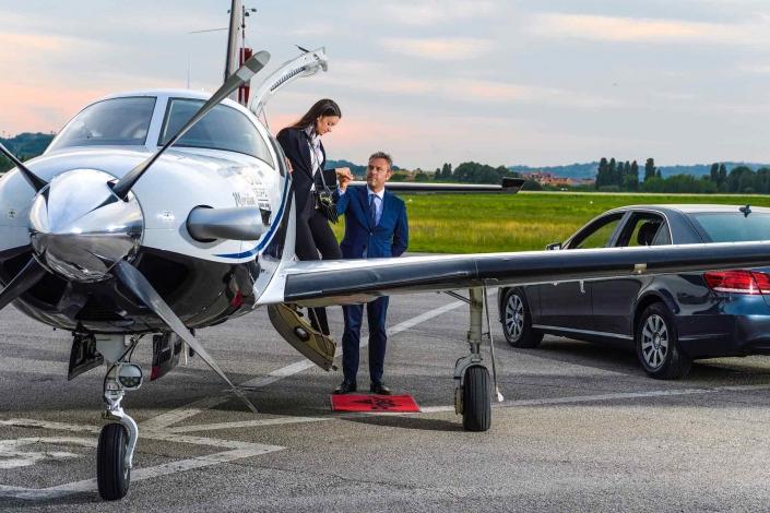 fotografia corporate e fotografia aziendale, aereo personale