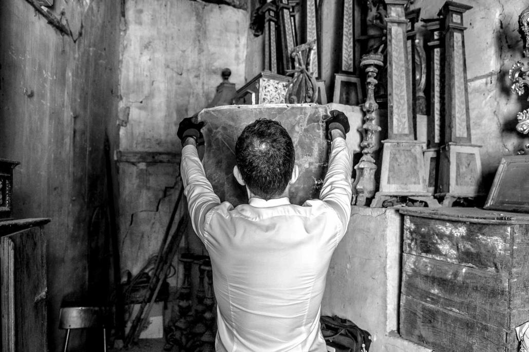 fotografia corporate e fotografia aziendale, lavorazione marmo