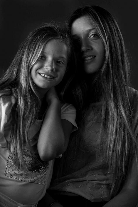 ritratto fotografico, foto sorelle