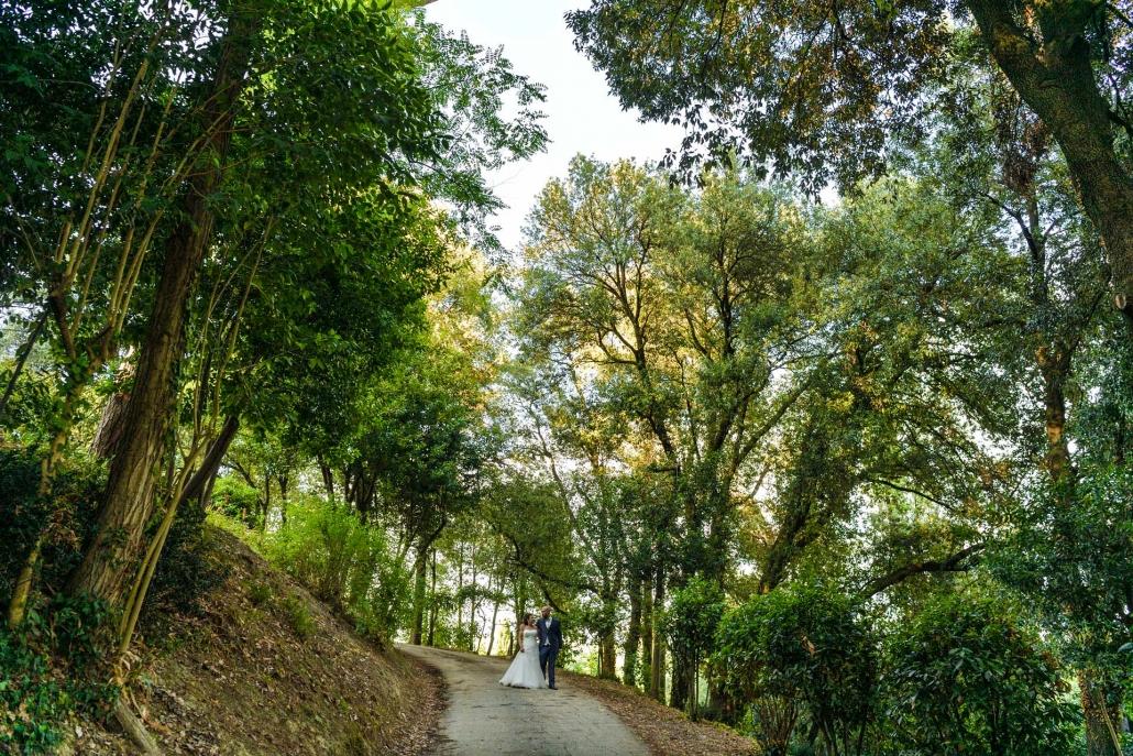 matrimonio Castello di Monte Giove, foto nel verde
