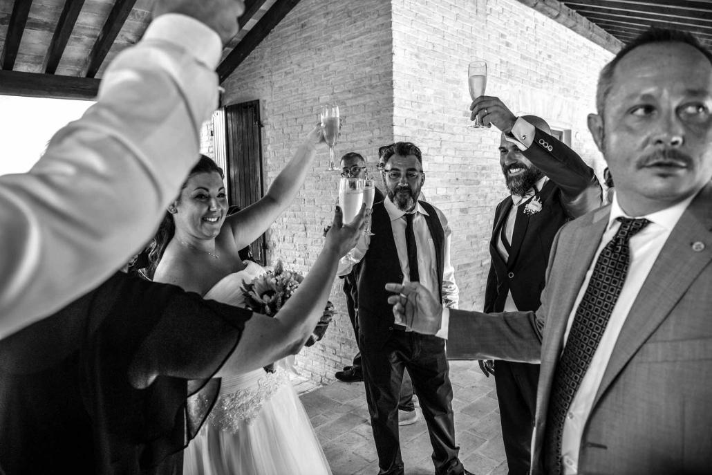 matrimonio Castello di Monte Giove, brindisi
